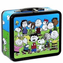 This lunchbox is a must for any fan of Peanuts series by Charles M. Schulz. Embossed artwork shows almost all of your favorite Peanuts characters, including Snoopy, Charlie Brown, and many more.