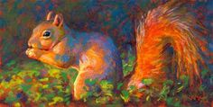 "Daily Paintworks - ""Spencer Yum-Yum - day 11"" - Original Fine Art for Sale - © Rita Kirkman"