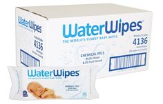 WaterWipes Sensitive Baby Wipes, Natural & Chemical-Free, 12 packs of 60 Count (720 Wipes): Amazon.ca: Health & Personal Care