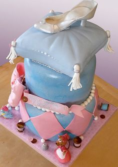 Cinderella glass slipper cake