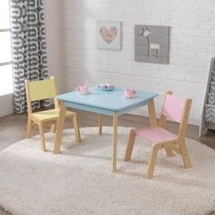 KidKraft Pastel Modern Table & Chair 3-piece Set | #afflink