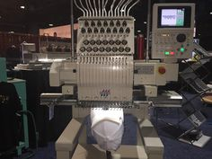 The new TMBR #Tajima at NBM Show, a business-to-business trade show held from 14 to 16 July in Long Beach, California, USA.  Thanks Hirsch Solutions Inc. team for sharing #monotesta #ricamo