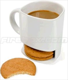 Coffee Cup holds 3 Cookies.