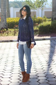 look do dia camisa tricô bordado bota cano curto galeria tricot borboletas na carteira-5