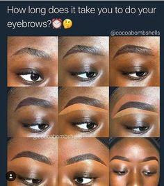Makeup Tips For Black Women - Everyday Makeup Tutorial Routine for Dark Skin Best Makeup Tutorials, Everyday Makeup Tutorials, Best Makeup Products, Eyebrow Makeup Tips, Makeup 101, Eye Makeup, Daily Makeup, Makeup Eyebrows, Makeup Ideas