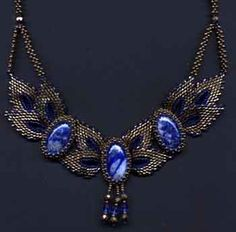 Beaded jewelry – Beaded necklace with cabochons!!! « Beaded jewelry