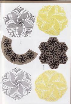 Crochet Knitting Artesanato: Moinho motivo e outros