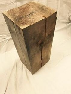 $189, Rustic Block Stool F15 Stool, Chair, Tissue Holders, Wood Table, Rustic Furniture, Arts And Crafts, Home Decor, Recliner, Country Furniture