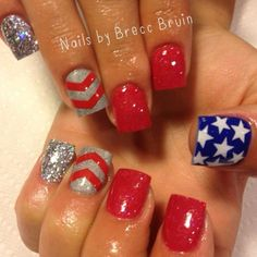 White | Stars Variety Nail Decals | 4th of July Nail Art | Patriotic Nails
