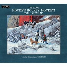 Hockey 2014 Wall Calendar #LANG #2014