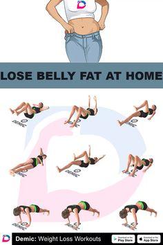 Bauchfett zu Hause verlieren - Lose Belly Fat At Home Lose Belly Fat At Home,workout - Home Workout Videos, Gym Workout Tips, At Home Workout Plan, Workout Exercises At Home, Exercise Videos, Beginner Workouts, Workout For Beginners, Beginner Workout At Home, At Home Workouts For Women