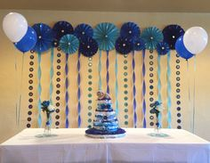 59 Most Popular graduation party decorations for boys decorating Diy 50th Birthday Decorations, Graduation Party Themes, Baby Shower Decorations For Boys, Balloon Decorations, Blue Birthday, 1st Boy Birthday, Birthday Parties, Birthday Diy, Trunk Party