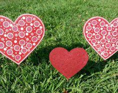 Valentines Day Heart Yard Decoration, Heart Garden Decor, Valentines Day Yard Art, Outdoor Hearts, Valentines Day Walkway Decoration, Heart