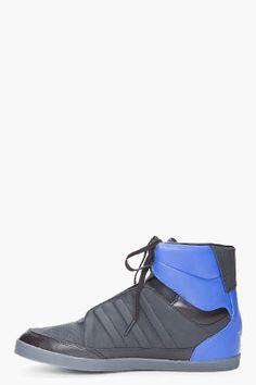 $206 Adidas Y-3 Black Honja High Sneakers Save 30% on SSENSE