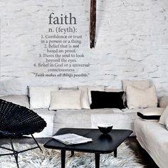 Faith Wall Vinyl - Grey from Love Lexicon Wall Art - R229 (Save 56%)