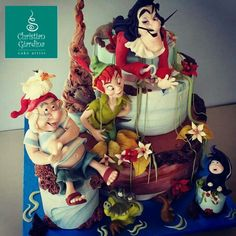 Peter Pan, Neverland Cake Art