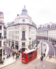 Regent Street - London. Home to the largest Burberry store in the world.