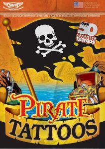 pirate temporary tattoos for pirate birthday parties