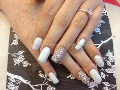 #nails #Swarovski #gel #bridal #nude #nailart