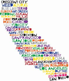 "california word art. i love it! i want one with ""burbank"" added to it"