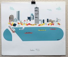 Boston, MA Print ...I'm lovin these city prints, and will be watching for other cities to be added