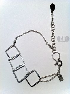Your place to buy and sell all things handmade Metal Bracelets, Red Garnet, Squares, Dangles, Jewelry Design, Sterling Silver, Chain, Stone, Link