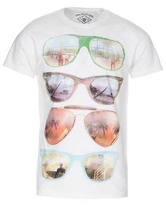 Men's Off White Large Sunglasses Graphic Print Slub T Shirt (£9.99)