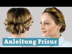 Frisur eindrehen mit Haarband für mittellange und lange Haare - Anleitung Hochsteckfrisur - YouTube