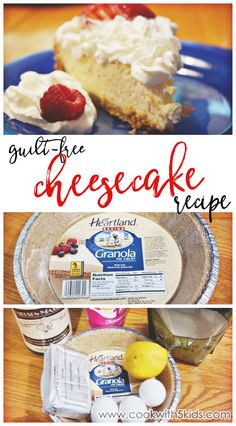 OMG! A clean eating cheesecake recipe with healthy ingredients. And it really tastes amazing! I love this woman's recipes. @cookwith5kids  Guilt-Free healthier cheesecake recipe #recipe #cleaneating   clean eating desserts