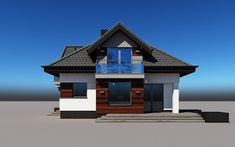 projekt Alicja N 2G+ Model House Plan, House Plans, Home Building Design, Building A House, Model Homes, Home Fashion, Cabin, Mansions, House Styles