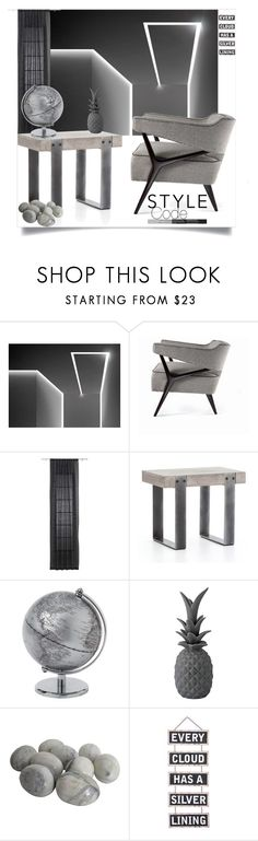 """""""Style Code"""" by ildiko-olsa on Polyvore featuring interior, interiors, interior design, home, home decor, interior decorating, Wallace, CB2, Dot & Bo and Silver Lining"""