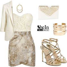 SHEINSIDE Blazer by tania-alves on Polyvore featuring мода, Yumi, Paul Andrew, Boohoo and Juicy Couture