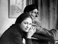 Dina Vierny and Aristide Maillol, Jan. 1944 -by Louis Carré