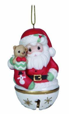 Precious Moments Santa Jingle Bell Ornament