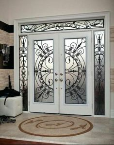 Top Modern Wrought Iron Doors for an Elegant Entry to Your House – Interior Design wrought Iron Door designs Grill Door Design, Door Gate Design, Door Design Interior, Front Door Design, Iron Front Door, Double Front Doors, Front Entry, Tor Design, Design Design
