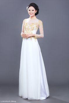 Thêm sự lựa chọn áo dài cưới 2015 cho cô dâu