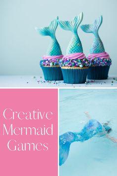 Swimmingly Fun Mermaid Birthday Party Games - Peachy Party Summer Party Games, Birthday Party Games For Kids, Little Mermaid Birthday, The Little Mermaid, Printable Bingo Games, Mermaid Song, Party Activities, Party Items, Fun