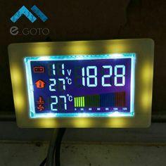 Двухканальный Температура Дисплей модуль DIY цифра термометр с Вольтметр время DC 10-32 В для автомобильной Температура воды