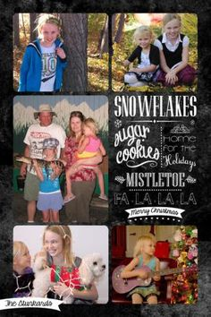 Create Your Own Christmas Photo Card With These Free Templates: Chalkboard Christmas Card Template from Got2havefaith