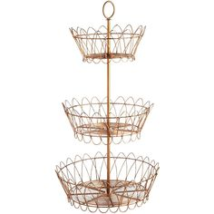 Tiered Metallic Basket - Pier 1