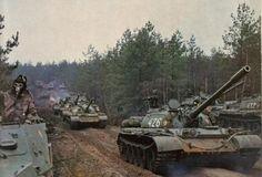 Column of NVA T-55 Tanks