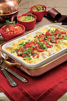 "Breakfast Enchiladas - How To Feed A Crowd For Breakfast - Southernliving. Recipe: Breakfast Enchiladas  A best-loved Southern Living breakfast casserole, this recipe can be prepared in advance, stored in the refrigerator overnight, and baked the next morning. In just an hour, you'll have what reviewers call ""the best tasting breakfast casserole ever eaten."" So you might want to make double.  Serves: 6 to 8"