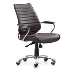MODERN CONTEMPORARY RIBBED BACK OFFICE CHAIR