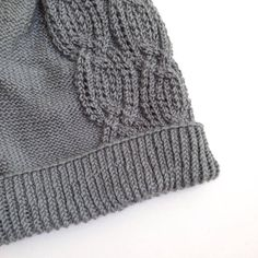 Gray Cabled Slouchy Beanie   Womens slouchy winter knit hat with a cabled chain design. This hat is hand knit with a super soft silk and wool blend yarn, and makes a great fall or winter accessory. From my etsy shop, Elaine's Collection.   Knit   Accessories   Women's Fashion   Gift Ideas   Winter Knit Hats