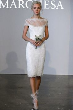 Marchesa short wedding dress with sleeves | The Wedding Scoop Spotlight: Short Wedding Dresses