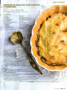 Revista bimby 2014 dezembro por Ricardo Fernandes Multicooker, Fish And Seafood, Cooking Tips, Food To Make, Good Food, Food And Drink, Lunch, Healthy Recipes, Meals