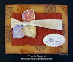 """Color Me Beautiful! Makes a Challenge: to use the """"Tuscan Rise"""" color palette, they also ask the participants to use their stamps to make a creation.then there is a team of creators who make beautiful cards with each challenge. Scrapbook Supplies, Scrapbook Cards, Fall Cards, Holiday Cards, Fall Paper Crafts, Color Me Beautiful, Card Making Tutorials, Quick Cards, Thanksgiving Cards"""
