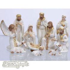 Porseleinen Kerstgroep Wit   Sagada, Holy Family, Christmas Nativity, Holi, Decoupage, Christmas Decorations, Statue, Inspiration, Decor Ideas