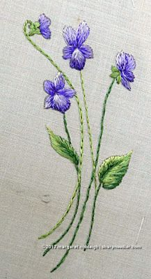 The latest addition to the antique Society Silk doily: another bunch of violets!