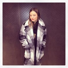 Feeling the winter vibes. Staying super cozy! Miranda Kerr 2014